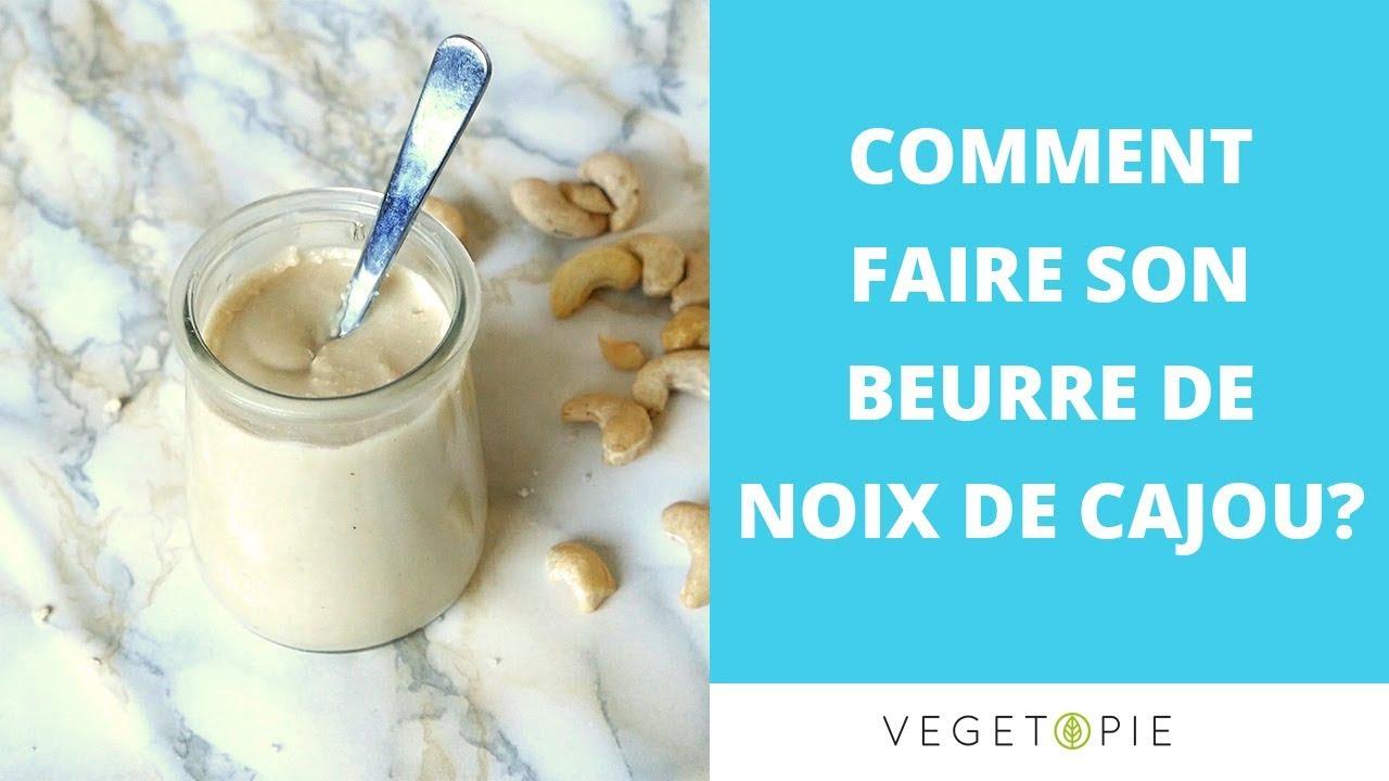 Faire Du Beurre De Noix De Cajou Cru Vegan Healthy