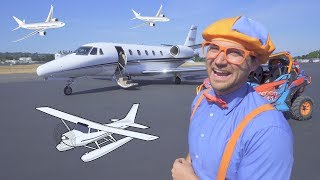 Blippi Flies In A Private Jet | Airplanes For Kids With The Airplane Song