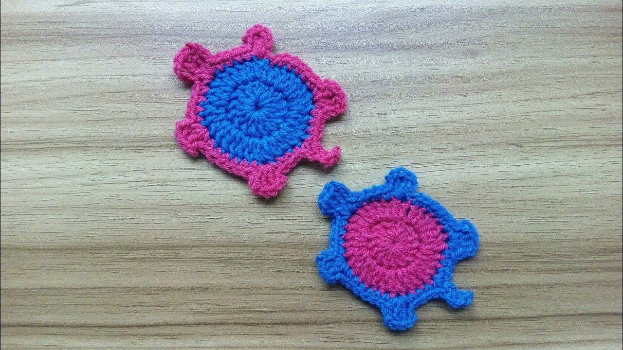 Amigurumi Tortoise Tutorial : How to crochet turtle tortoise applique tutorial requested