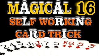 Magical 16 - Best Self Working Card Magic Trick - Performance & Tutorial In Hindi