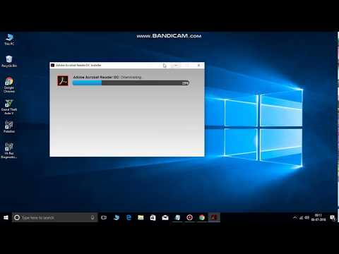 How to download and install the Adobe PDF Reader software window 7 ,8.1,10