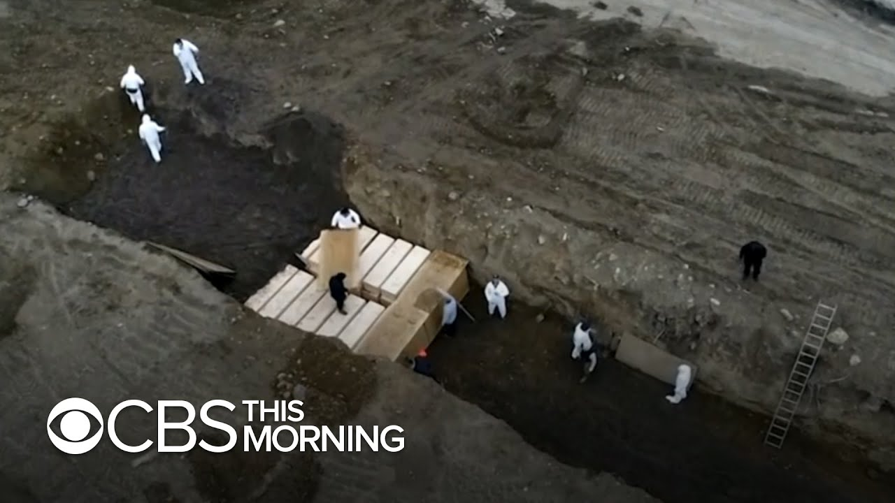 Images show mass burials at NYC public cemetery