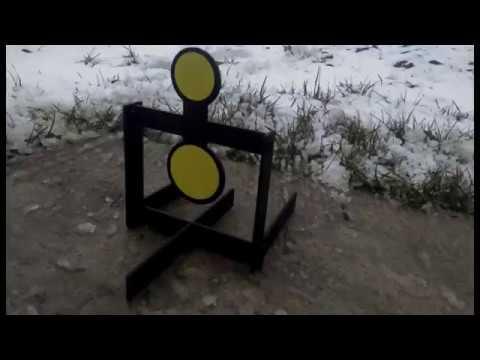 Стальная мишень супер спиннер для стрельбы из пневмматики и мелкашки