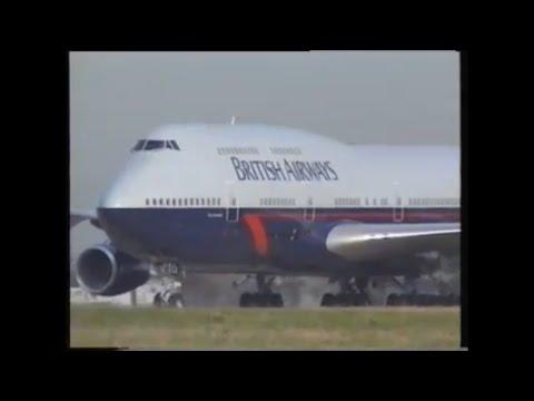 First Boeing 747-400 delivered to British Airways. August 1989