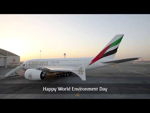 Thumbnail: How to wash an A380 without water | World Environment Day | Emirates Airline