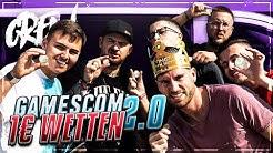 BETRUNKEN auf der Gamescom 2019 😂😱 Crew 1€ Wetten 2.0 !!