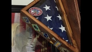 Create a beautiful way to display a flag with this flag case made from re-purposed wood. Takes only a few hours to complete.