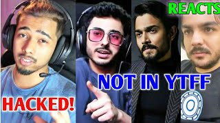 Scout HACKED! | CarryMinati, BB & Ashish NOT In YTFF 2020 - Reacts | Thugesh, Finestly | Neon Man