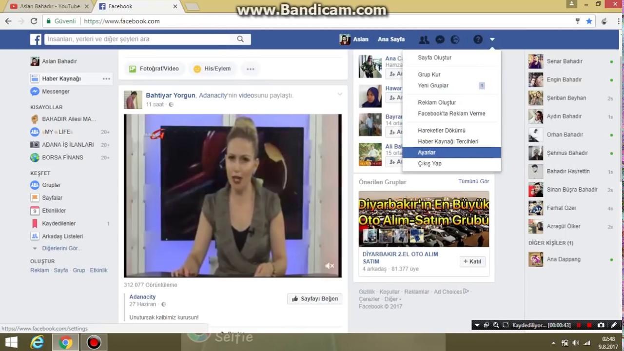 facebook ta silinen arama geçmişi görme