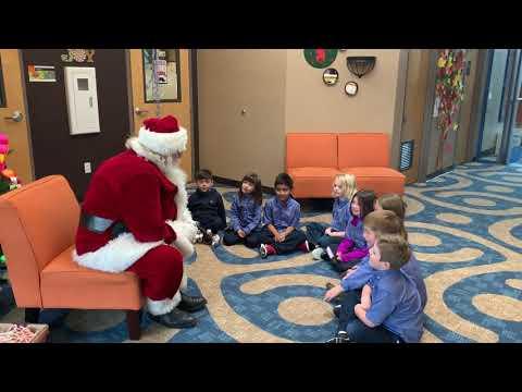 Triad School Private K-8   Christmas 2019, Meeting Santa Claus