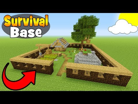 """Minecraft Tutorial: How To Make A Small Survival Base """"Survival Base"""""""