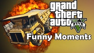 GTA 5 Funny Moments - Messing around , Funny custom game mode with DUMP TRUCK !