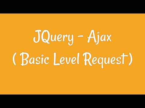 Jquery Tutorial For Beginners - Ajax Request thumbnail