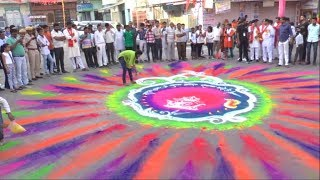 अद्भुत रंगोली कला   (महाराष्ट्र की कलाकार द्वारा)