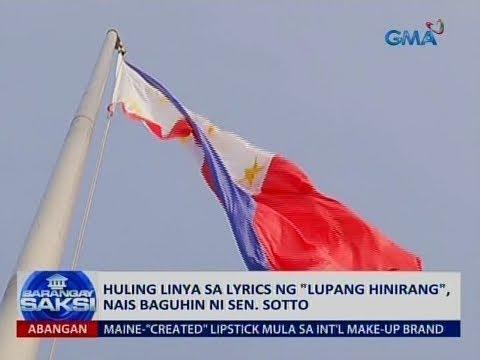 Saksi: Huling linya sa lyrics ng