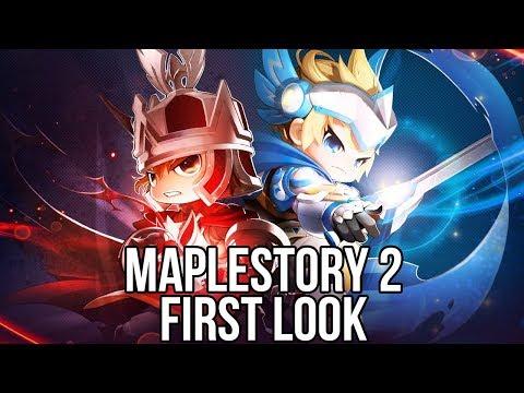 MapleStory 2 (Free MMORPG): Watcha Playin'? Gameplay First Look (Closed Beta NA)