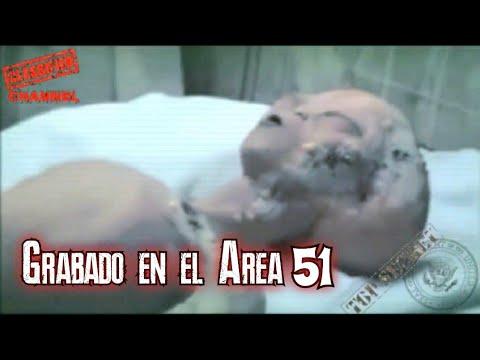 Grabacion adentro del Área 51 de pilotos extraterrestres, un alien murió y el otro sobrevivió