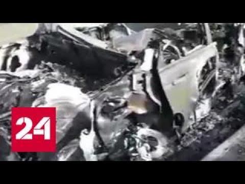 Подросток на джипе сбил пятерых дорожных рабочих