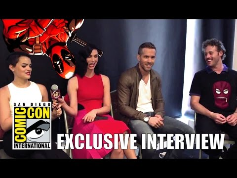 Ryan Reynolds, Morena Baccarin, TJ Miller & Brianna Hildebrand's DEADPOOL Interview (HD) SDCC 2015