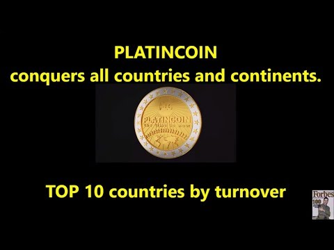 PlatinCoin conquers all countries and continents - TOP 10 countries by turnover!