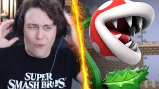 ROGERSBASE LIVE REACTION TO PIRANHA PLANT IN SMASH BROS ULTIMATE!