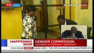 CJ Maraga swears in gender and equality commissioners at Supreme Court