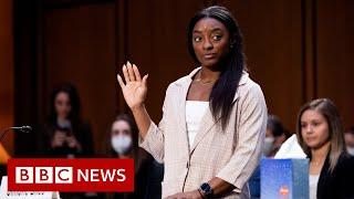 Simone Biles blames system for enabling abuse - BBC News