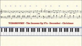 Piano Tutorial Sheet - 12 - TCHAIKOVSKY - December - Christmas - HD