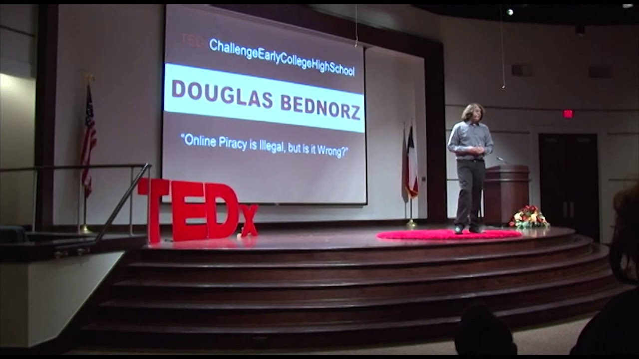 Download Online piracy is illegal, but is it wrong?   Douglas Bednorz   TEDxChallengeEarlyCollegeHighSchool