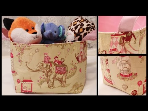 Fabric Storage Basket How to DIY - Whitney Sews