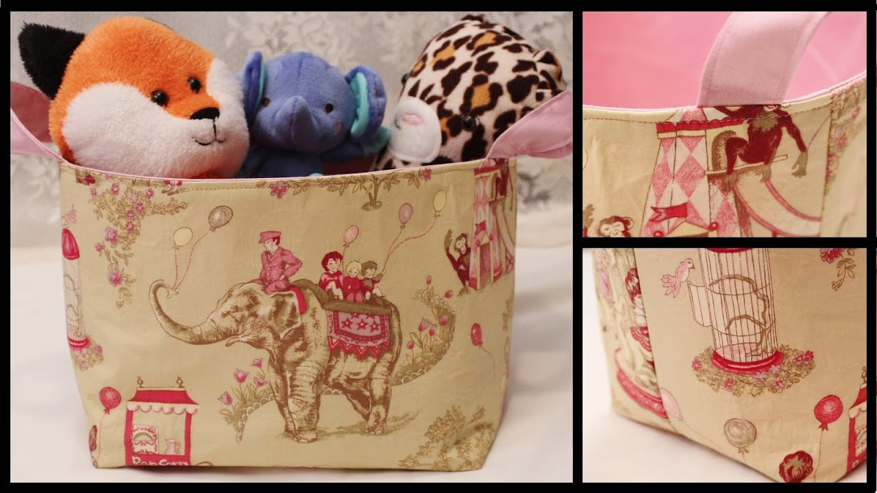 Fabric Storage Basket How To DIY   Whitney Sews   YouTube