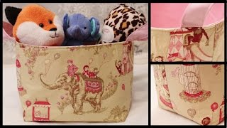 Diy Fabric Storage Basket - Whitney Sews