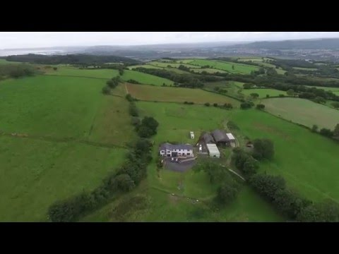 Farm in Wales Drone Video