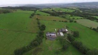 Farm in Wales Drone Video