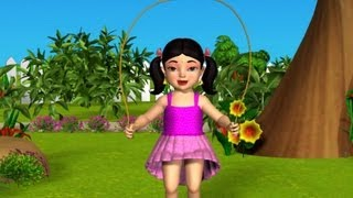 3D Animation Hop a Little Jump  a Little Nursery rhyme for children with Lyrics