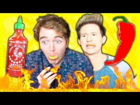 TASTING SPICY HOT FOOD! with Ricky Dillon
