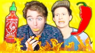 TASTING SPICY HOT FOOD! (with Ricky Dillon) thumbnail