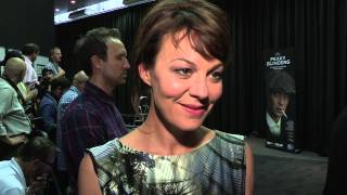 Peaky Blinders - UK Premiere interviews - Cillian Murphy, Helen McCrory, Charlie Creed-Miles