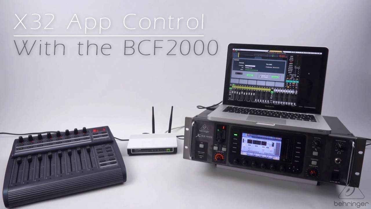 Behringer X32 App With BCF2000 Fader Control (Full Setup Guide X32 EDIT  PC/Mac)