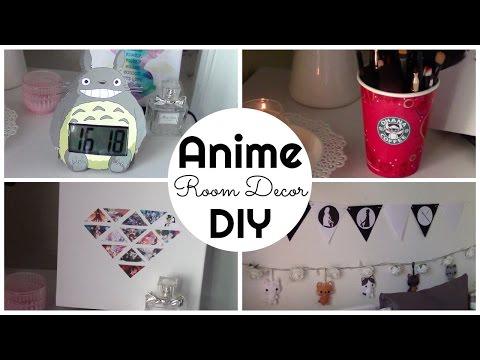 Anime Inspired Room Decor Diy Ita Chibiistheway Youtube