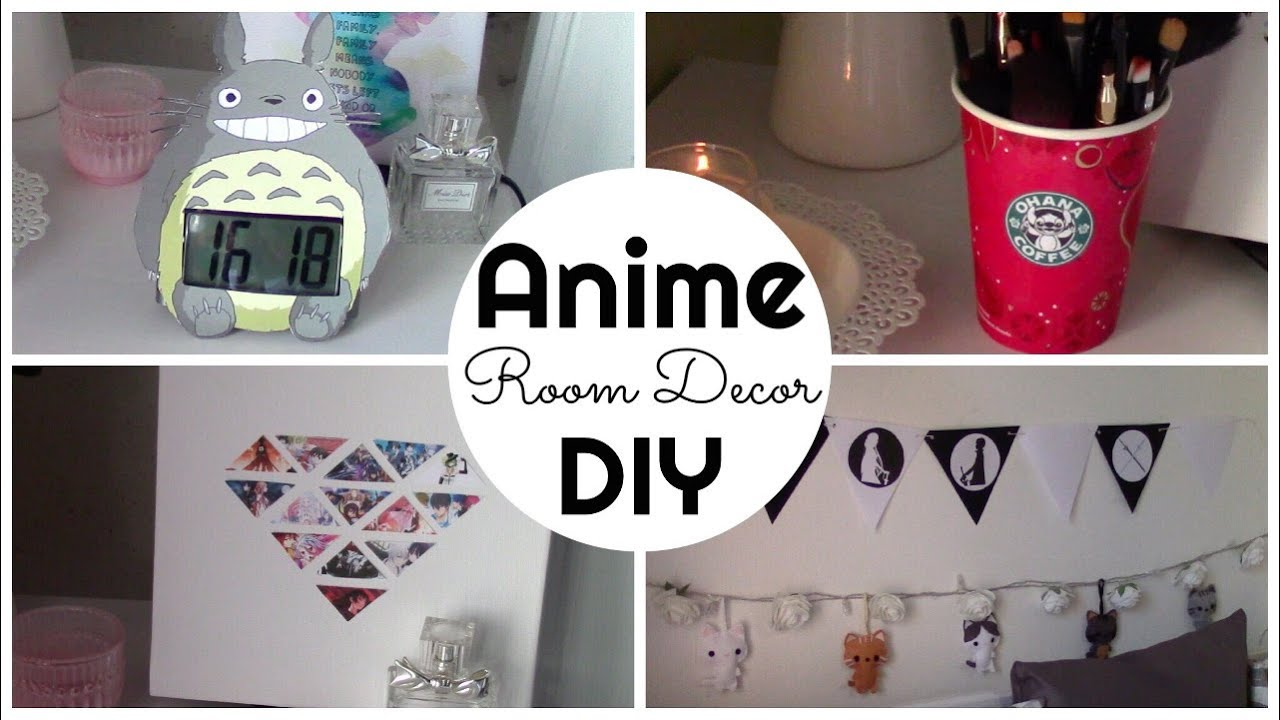 Room Decor Diy Anime Inspired Room Decor Diy Ita Chibiistheway Youtube