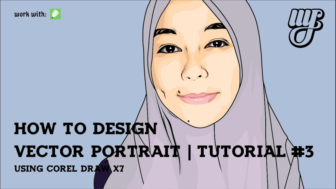 how to make vector portrait using corel draw x7 tutorial 3