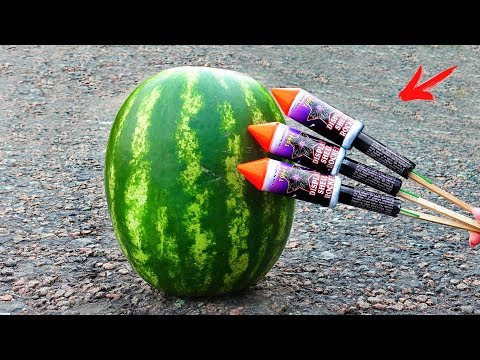 EXPERIMENT: XXL ROCKET VS WATERMELON
