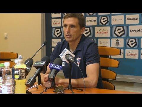 Trener Brosz o meczu z Sandecją (28-10-2017)