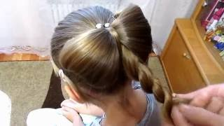 Бант из волос - это шикарно, но очень просто!!!