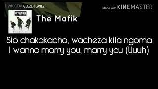The mafik passenger (lyrics)