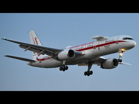 EXTREMELY RARE Honeywell International B757-200 Landing at Melbourne Airport