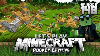 Let's Play Minecraft PE - Ep.148 : Huge Village w/ 3 Blacksmiths!/Adventure Home