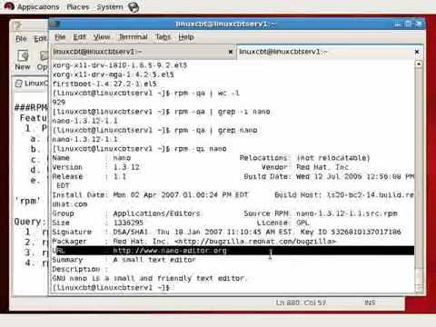 Redhat Enterprise linux 5 RPM Package Management Part1   YouTube
