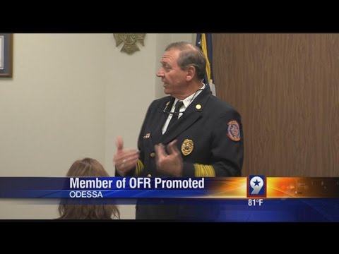 Longtime Odessa Fire-Rescue Member Promoted (10-20-15)